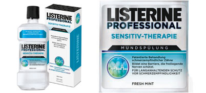 Listerine® Professional Sensitiv-Therapie