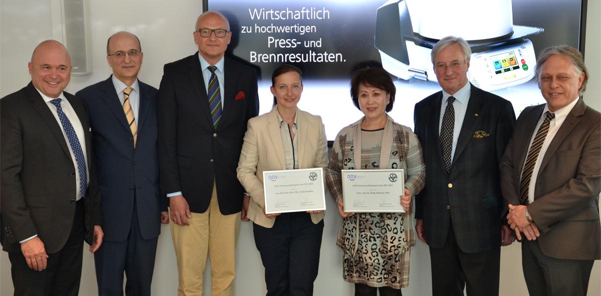 """""""ODV-Wissenschaftspreis des ZIV"""" 2016 übergeben"""