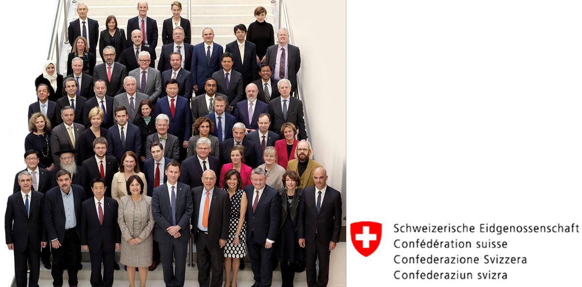 Schweizer Delegation beim OECD-Gesundheitsministertreffen in Paris