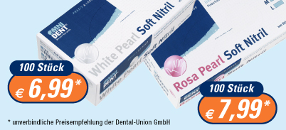 Rosa Pearl Soft Nitril und White Pearl Soft Nitril