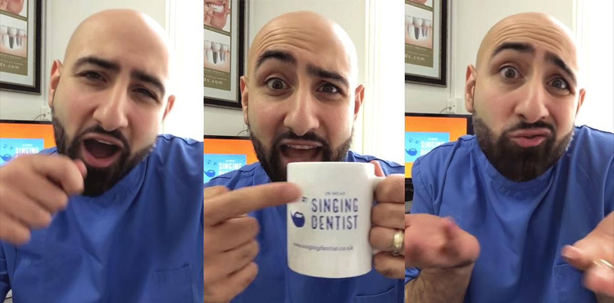 Singender Zahnarzt