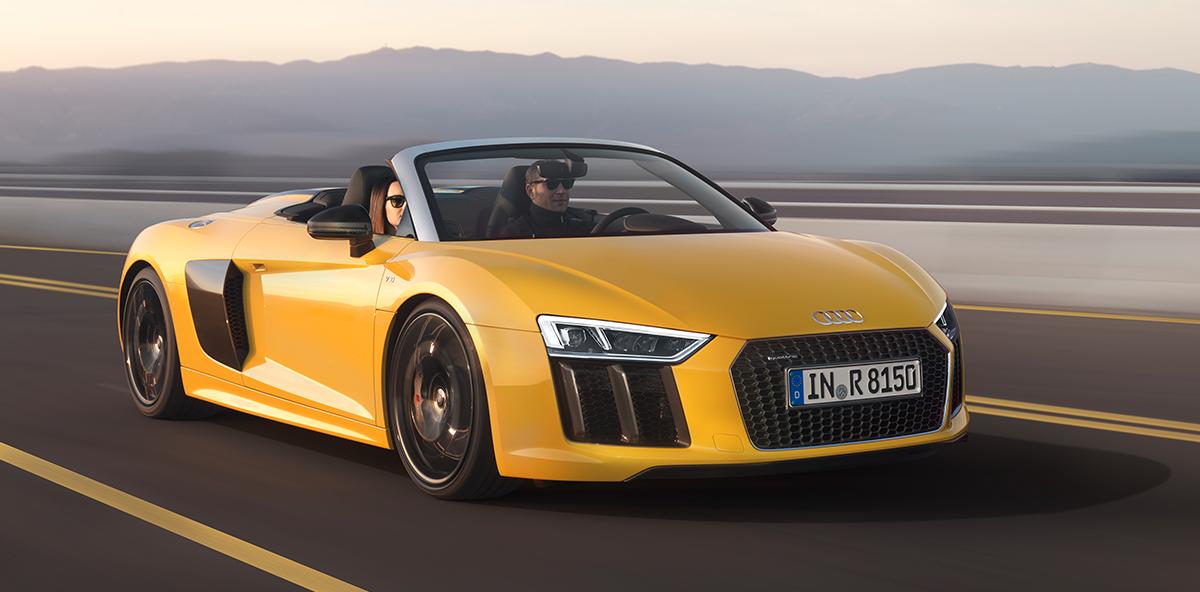 Power auf ganzer Linie: der Audi R8 Spyder V10