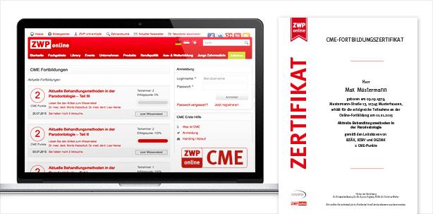 Nie war fortbilden so einfach: CME-Fortbildung auf ZWP online
