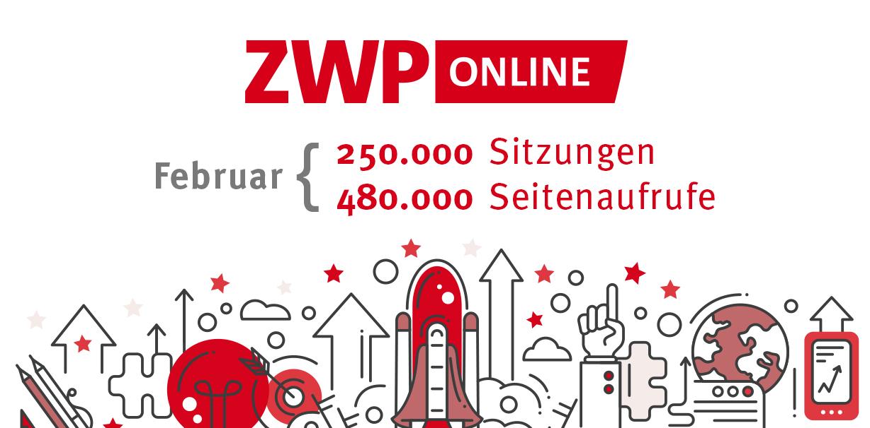 ZWP online ungebrochen im Aufwärtstrend