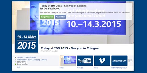 """Facebook-Fanseite der """"today"""" zur IDS 2015"""