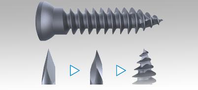 Twisted Trocar  Schraube
