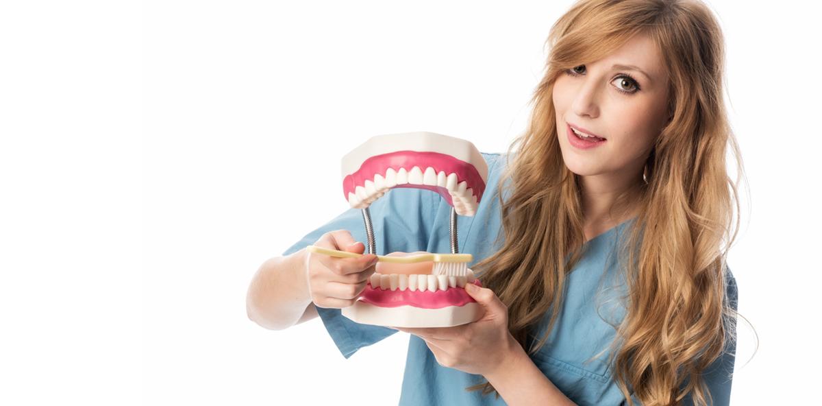 Mundhygienestatus und Kontrolle des Übungserfolgs