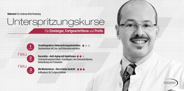 """Kursreihe """"Unterspritzungstechniken"""" 2015 in Wien"""