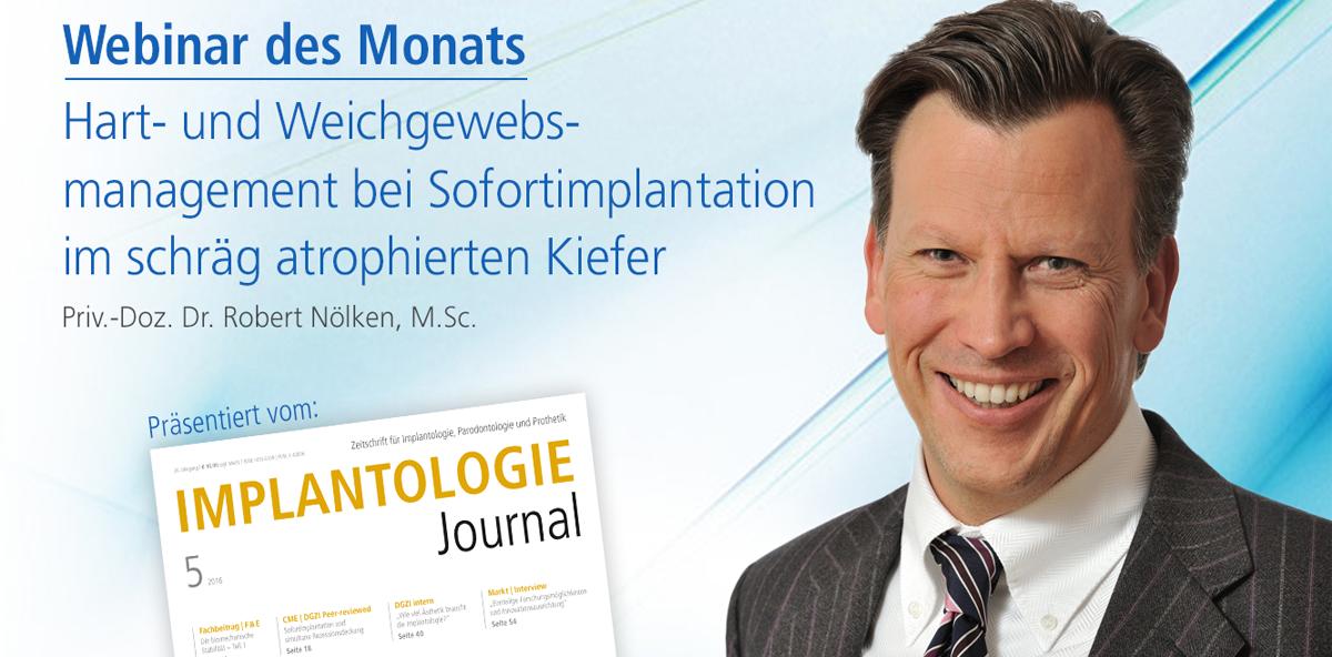 Live-Webinar zu Sofortimplantation im schräg atrophierten Kiefer