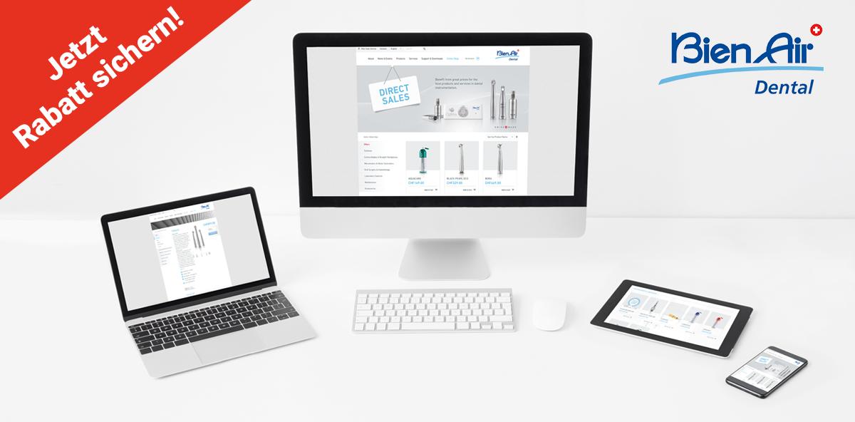 Bien-Air: Top-Rabatte zum Launch des Onlineshops