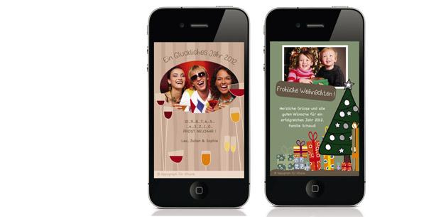 Weihnachtskarten via iphone versenden neues app macht 39 s - Weihnachtskarten online versenden ...