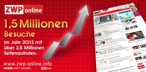 ZWP online gewinnt 2013 deutlich an Nutzern