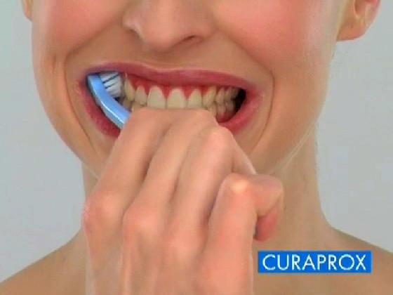 Perfekt saubere Zähne