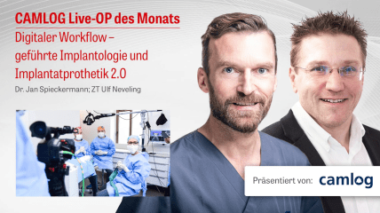 """CAMLOG Live-OP """"Evolution der Implantatprothetik"""" (Teil 2)"""
